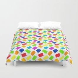 Seamless pattern background. Pastel crayon spots. Duvet Cover