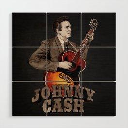 Johnny Cash Wood Wall Art
