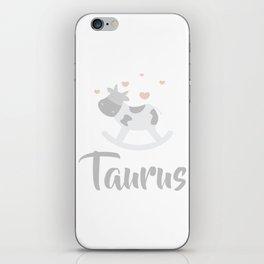 Taurus April 20 - May 20 - Earth sign - Zodiac symbols iPhone Skin