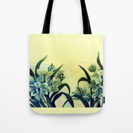 Green Orchids Triptych Tote Bag