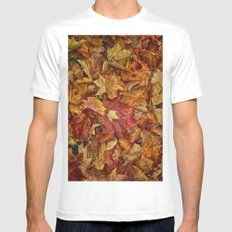 Falls textures White MEDIUM Mens Fitted Tee