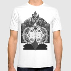 LIVE IN DREAMS Mens Fitted Tee White MEDIUM
