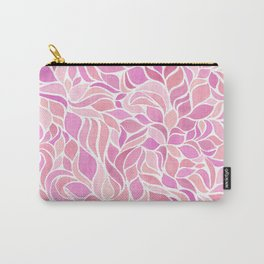 Press of Leaves - Pink Carry-All Pouch