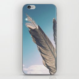 Brown Feathers iPhone Skin