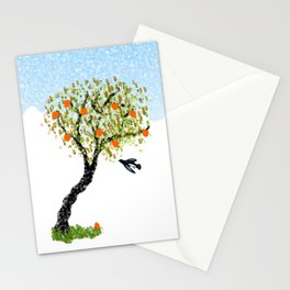 Bird and Apple Tree Stationery Cards