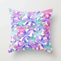 hawaiian Throw Pillows featuring Hawaiian flowers by Marta Olga Klara
