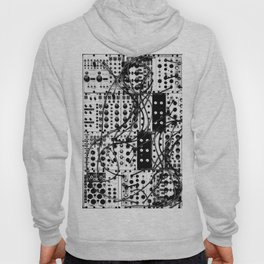 analog synthesizer system - modular black and white Hoody