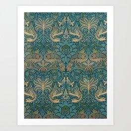 William Morris Peacock And Dragon Kunstdrucke