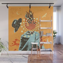 PSYCHEDELIC COWBOY Wall Mural