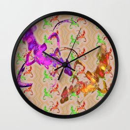 Fights of knights Wall Clock