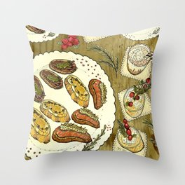 Holiday Hors D'oeuvre Throw Pillow