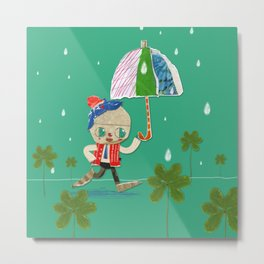 rain and clown umbrella Metal Print