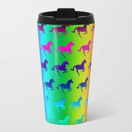 Psychedelic Unicorn Pattern Travel Mug