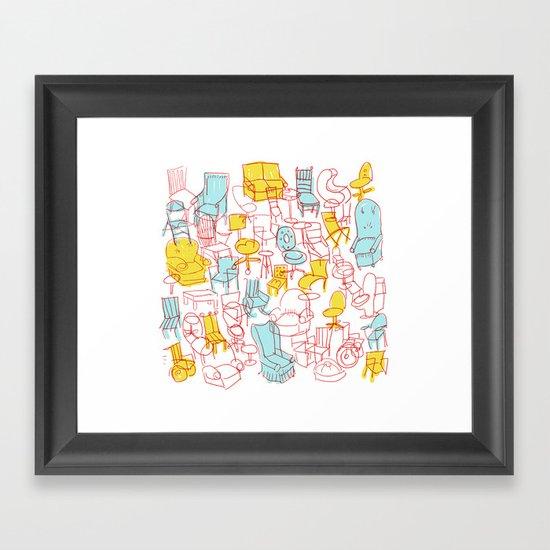 Chairs Framed Art Print