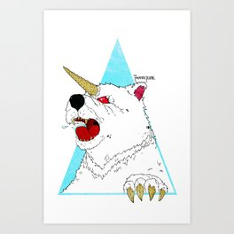 UNI-BEAR-ICORN Art Print