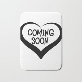 Coming Soon Pregnancy Announcement Gift Bath Mat
