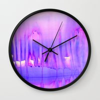 sia Wall Clocks featuring DREAMSCAPE by Amy Sia