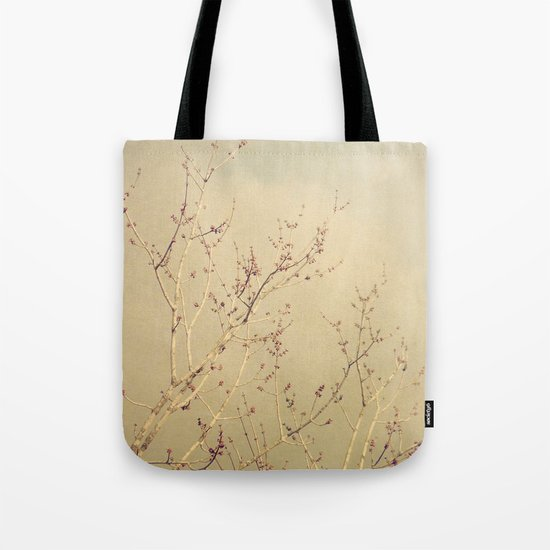 Vintage February Branches Tote Bag