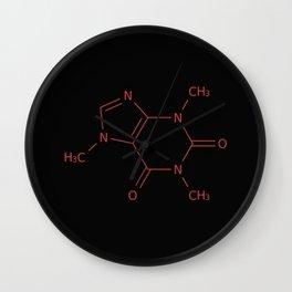 Caffiene Molecule | Molecules | Coffee | Coffee lover Wall Clock