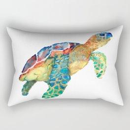 watercolour rainbow sea turtle Rectangular Pillow