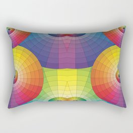 Rainbow Pretty Circles Color Wheel Awesome Thing Rectangular Pillow