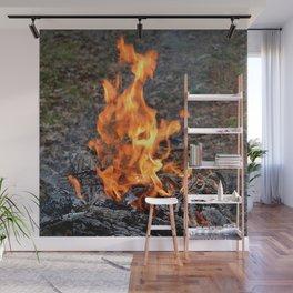 frozen fire Wall Mural