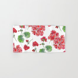 Red malvon pattern Hand & Bath Towel