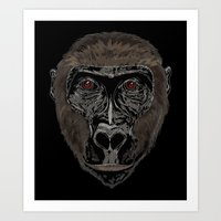 ape Art Prints featuring Ape by Mel McIvor