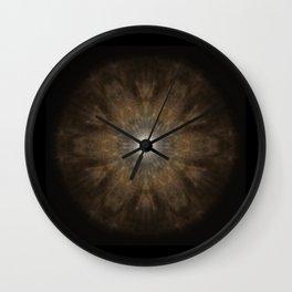 Clouded Coffee Mandala Wall Clock