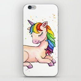 Sleeping Rainbow Unicorn iPhone Skin