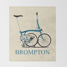 Brompton Bike Throw Blanket