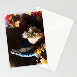 Mary among the flowers Stationery Cards