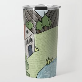 Cabin in the Mountains Travel Mug