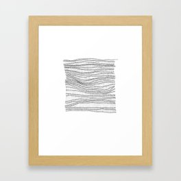 black on white Framed Art Print