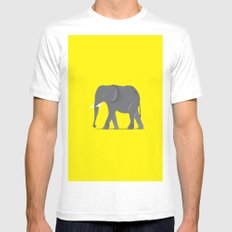 Elephant. MEDIUM Mens Fitted Tee White