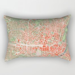 Munich city map classic Rectangular Pillow