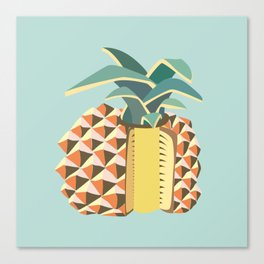 Pineapple illustration Canvas Print