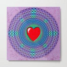 Heartbeat version Metal Print