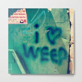 I Heart Weed Metal Print