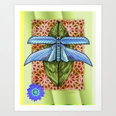 Dragonfly to Your Dreams Art Print
