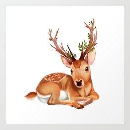 The Mysterious Deer. Art Print