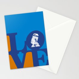 Robot LOVE - Blue Stationery Cards