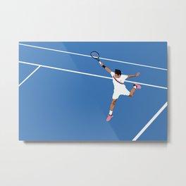 Roger Federer Backhand - Landscape Metal Print