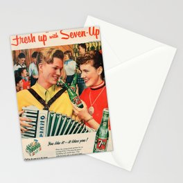 Vintage poster - Soda Advertisement Stationery Cards