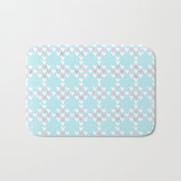 From Hearts Love And Christmas-Cute teal X-Mas Pattern Bath Mat