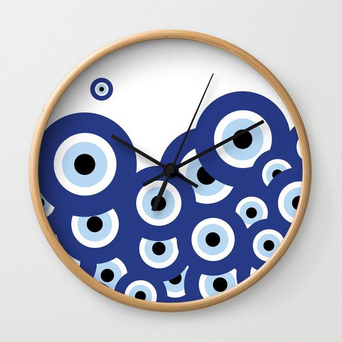 Multi-eyed Wall Clock