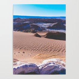 Valle de la Luna (Moon Valley) in San Pedro de Atacama, Chile Poster