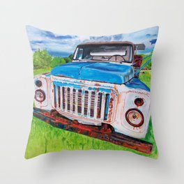 Beat up truck Throw Pillow
