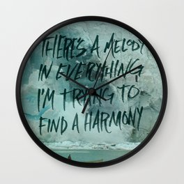 HARDER HARMONIES Wall Clock