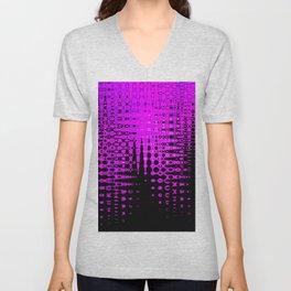 Modern abstract pattern in purple Unisex V-Neck
